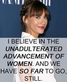 Feminist Celebrity & Quotes : 17 Celebrities Who Have The Right Idea About Feminism - Quotes Daily Rashida Jones, Smash The Patriarchy, Hate Men, Intersectional Feminism, Celebration Quotes, Independent Women, Equal Rights, The Victim, Human Rights