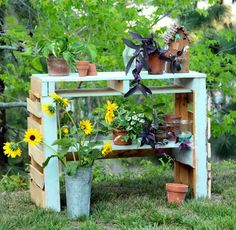 Two-Pallet Potting Bench
