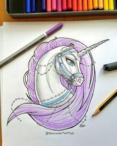 Tattoo Design: Lady Unicorn by MySweetQueen on DeviantArt