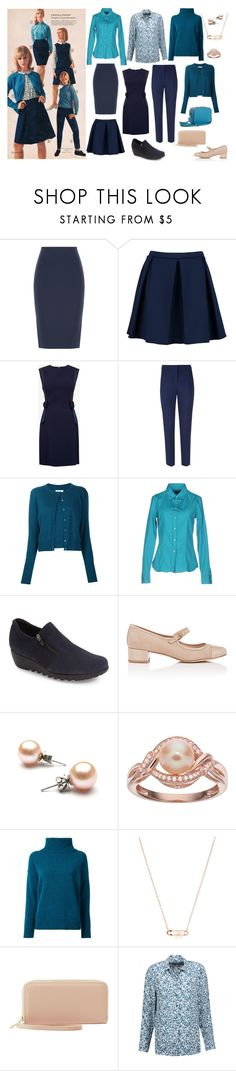"""Retro Redo in Blue"" by rewolf71 ❤ liked on Polyvore featuring Roland Mouret, Boohoo, Ted Baker, Hobbs, Maison Margiela, Calvin Klein Collection, Munro American, Barneys New York, Loveless and Vivienne Westwood"