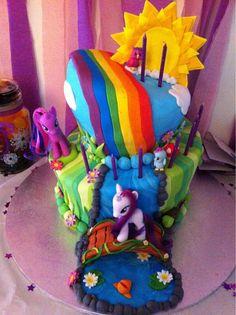 my little pony birthday cakes | My Little Pony themed purple velvet birthday cake. - Imgur
