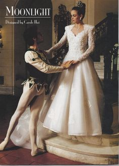 Honey, when I said I'd like tights for the wedding, I didn't mean YOU.  From my own collection of bridal magazines, 1999.
