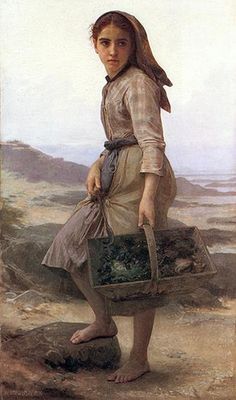 This could be my mother as a young girl- amazing...BOUGUEREAU William-Adolphe (1825–1905) -
