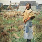 Saint Genevieve by Charles Sprague Pearce (1851-1914)