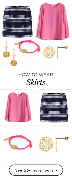 """""""S is for Skirt (oops! I skipped s!) haha"""" by chevronkoala on Polyvore featuring Chicwish, Kenneth Jay Lane and Feather & Stone"""