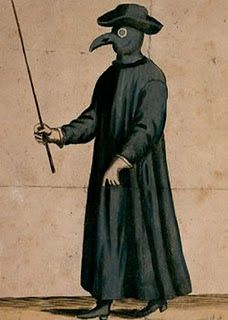 Medieval bubonic plague doctor