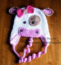 newborn crochet bonnet pattern | ... Beanie and Earflap Pattern - Newborn to Adult - CROCHET HAT PATTERN