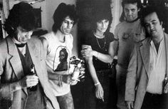 Mick Jagger, Keith Richards, Ronnie Wood and John Belushi