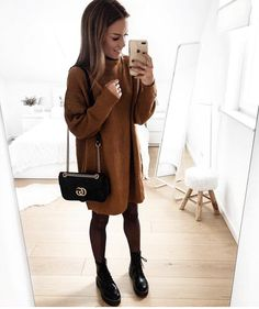 I really want a sweater dress. 😍 Source by its_roseem outfits casual chilly Winter Outfits For Teen Girls, Casual Fall Outfits, Fall Winter Outfits, Autumn Winter Fashion, Trendy Outfits, Mode Outfits, Fashion Outfits, Womens Fashion, Petite Fashion