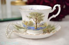 Royal Albert Scenery Teacup and Saucer With by TheTeacupAttic
