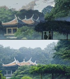 "Background Comparison in Anime ""Kotonoha no Niwa(言の葉の庭/The Garden of Words)"" by Shinkai Makoto, Tokyo, Japan Anime Vs Real Life, Real Anime, Environment Concept Art, Environment Design, The Garden Of Words, Shinjuku Gyoen, Makoto, Anime Places, Film D'animation"