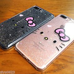 Adorable Hello Kitty Brillante Ostentoso Transparente Blando Estuche Para Iphone 7 7 Plus 6s Plus