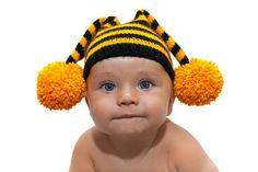 Вязание детская шапка пчелка описание