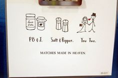 Matches made in heaven wedding card.