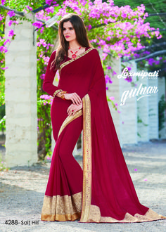 Explore this Amazing Maroon Chiffon Saree Work with Stone, Jute Lace,Net Emrboidery Border along with Maroon Color Pashmina Blouse by Laxmipati. #Catalogue #GULNAR Price - Rs. 2692.00 Visit for more designs@ www.laxmipati.com #GaneshChaturthi #Ganesh #monsoon #Shopping #Shoppingday #ShoppingOnline #fashionstyle #ReadyToWear #OccasionWear #Ethnicwear #FestivalSarees #Fashion #Fashionista #Couture #LaxmipatiSaree #Autumn #Winter #Women #Her #She #Mystery #Lingerie…