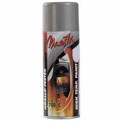 Maestro hőálló festék aerosol 400ml - 1790Ft A Maestro hőálló festék aerosol elsősorban hőhatásnak kitett fémfelületek festéséhez. A jó fedőképességű aerosol kemény, de rugalmas festékbevonatot biztosít 150 °C-on történő beégetés után. Legfőképpen sav- és hőálló felületekre alkalmas, például grillsütők, csövek, motorok, stb. A festék a kupakon feltüntetett hőmérsékletig használható fel motorok festéséhez. Maestro hőálló festék felhasználási javaslata: Érdesítsük fel alaposan a fe