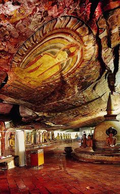 Dambulla cave temple also known as the Golden Temple of Dambulla is a World Heritage Site (1991) in Sri Lanka, situated in the central part of the country. This site is situated 148 kilometres (92 mi) east of Colombo and 72 kilometres (45 mi) north of Kandy. It is the largest and best-preserved cave temple complex in Sri Lanka.Check the link to read more about Sri Lanka http://travelme-srilanka.blogspot.com/