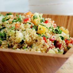 See complete recipe http://www.tablespoon.com/recipes/quinoa-and-veggie-salad-recipe/1/