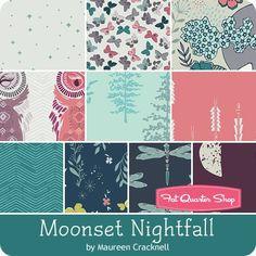 Moonset Nightfall Fat Quarter Bundle <br/>Maureen Cracknell for Art Gallery Fabrics