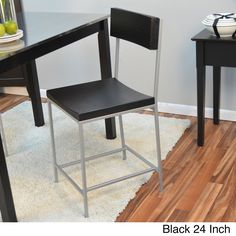 This Lakeland counter/ barstool feature a modern rustic design. With its old schoolhouse-style seats and textured black metal frame, this versatile stool is complete with a rich, warm chestnut finished that will lend inviting appeal to your dining space.