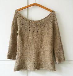 simple sweater (free pattern).