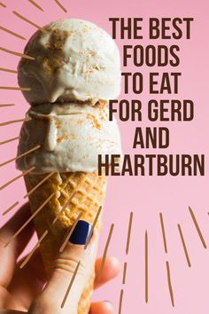 Just swap sherbet for ice cream! Start with these simple switches to prevent heartburn and other GERD symptoms. Heartburn Symptoms, Home Remedies For Heartburn, Reflux Symptoms, Reflux Disease, Gerd Symptoms, Heartburn Medicine, What Causes Acid Reflux