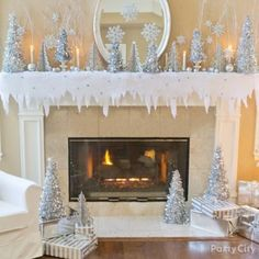 Host a Winter Wonderland theme party to celebrate the season. Shop for Winter Wonderland decorations: Hanging snowflake decorations, cascading snowflake centerpieces, and more. Winter Wonderland Decorations, Winter Wonderland Theme, Silver Christmas Decorations, Christmas Wonderland, Christmas Themes, Winter Decorations, White Christmas Party Theme, Snowflake Decorations, Hanging Decorations