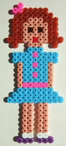 hama beads girl by kitsch, via Flickr