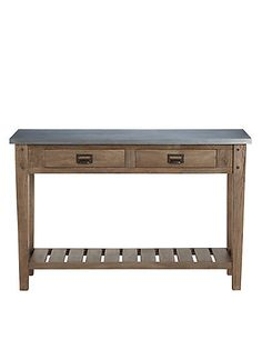 Sanford Console Table Metal Top | M&S