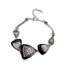Viennois Triangles Antique Silver Bracelet