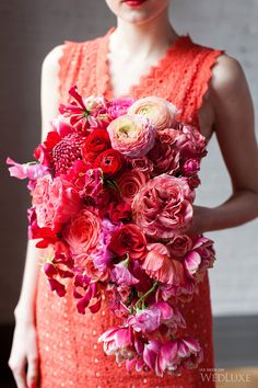 Searching for bright and bold wedding ideas? You won't want to miss this winning Glitterati Style File contest entry!   Photography by: Corina V. Photography