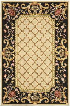 Shop the Rug - Color: Ivory, Black; Size: x by Safavieh. This Hand Hooked Ivory, Black rug has a pile_height, perfect for a soft yet durable addition to your home. Dynamic Rugs, Hand Hooked Rugs, Classic Rugs, Black Rug, Rug Hooking, Throw Rugs, Tribal Rug, Rugs On Carpet, Carpets
