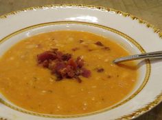 Played around with the idea of a homemade version of the condensed version of bean & bacon soup. This is what I came up with.