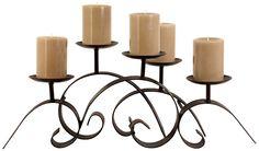 fireplace Candleholder Pillar ~~for sale~~~~  #wedding, centerpiece, home decor or gift idea.  ~~~~ www.CandelabraCenterpieces.info