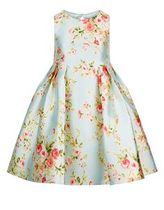 Boasting a beautiful bloom print with a party-perfect full skirt, our Halo dress for girls is sure to stand out from the rest. Designed with a keyhole featur...
