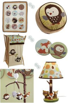 Carter's Forest Friends bedding collection features colorful and playful woodland animals - owl, bear, fox, raccoon and bear. Th...