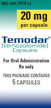 Temodar (temozolomide) Learn more at http://www.rxwiki.com/temodar #Temodar #BrainCancer #rxwiki