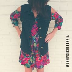 """51 curtidas, 3 comentários - coleteria ♡ (@coleteria) no Instagram: """"O melhor colete jeans PRETO que você respeita!👊#semprecoleteria #coleteria  www.coleteria.com.br"""""""