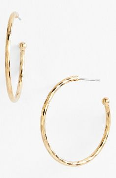 Nordstrom Medium Hoop Earrings available at #Nordstrom