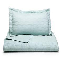 Beddingstyle: Tommy Bahama Aruba Blue Solid Quilt Set
