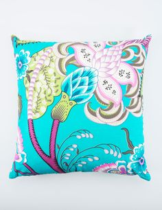 FLORATINE cushion turquoise | Pillow | Pillow | Pillows | Interior | INDISKA Shop Online Turquoise Throw Pillows, Decorative Pillows, Diaper Bag, My Design, Cushions, Blanket, Chair, Sewing, Interior