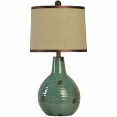 Glass table lamps seeded and amber on pinterest turquoise ceramic table lamp jcpenney aloadofball Gallery