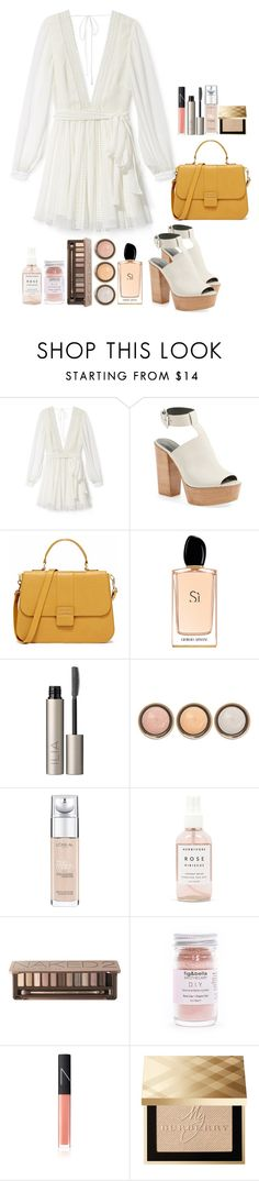 """""""#566"""" by victoria2610 ❤ liked on Polyvore featuring Rebecca Minkoff, Giorgio Armani, Ilia, By Terry, L'Oréal Paris, Herbivore Botanicals, Urban Decay, NARS Cosmetics, Burberry and hippie"""
