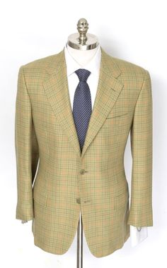 Kiton does dapper, in this yellow houndstooth 100% cashmere coat jacket!