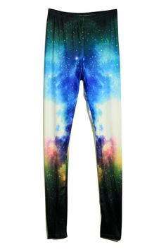 Tie-dye Starry Universe Blue Pants    $30.99  romwe.com new in and hot sale:)  #romwe