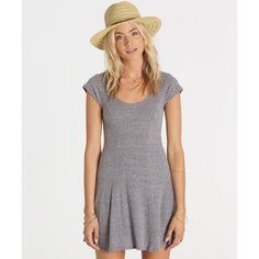 The essential t-shirt dress gets a Biarritz-y feel with a feminine skater dress silhouette and stripe print. The rib knit skater dress features a sco...