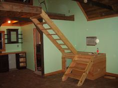 cool cabin stairs!