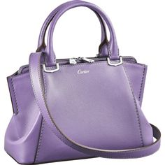 C de Cartier bag, mini model Purple sapphire color taurillon leather,... (92.700 RUB) ❤ liked on Polyvore featuring bags, handbags, shoulder bags, leather shoulder handbags, mini leather handbags, mini handbags, mini purse and purple purse