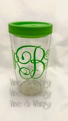 Personalized Vinyl Decal Monogram Sticker Yeti Tumbler Oracal - Custom vinyl stickers for wine glasses   for business