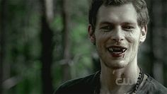 Klaus bares his fangs
